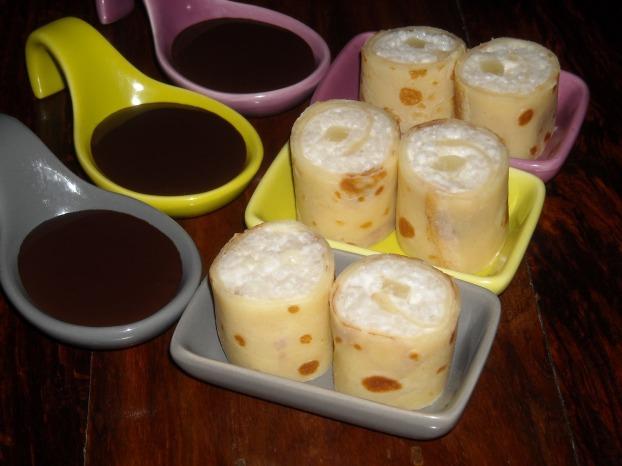 Makis de crêpes lait de coco ananas