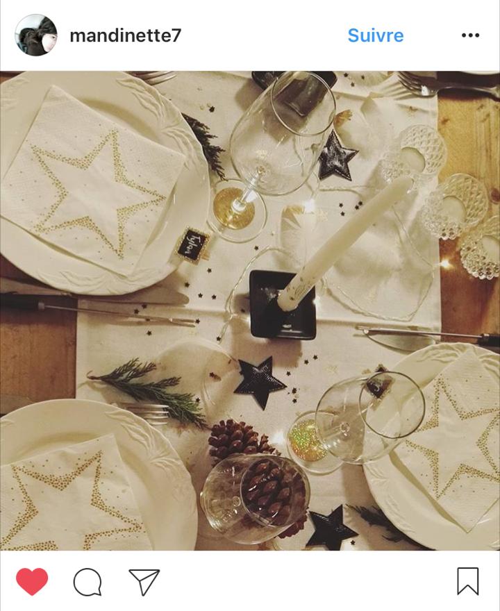 table-de-nouvel-an avec kit confettis gifi