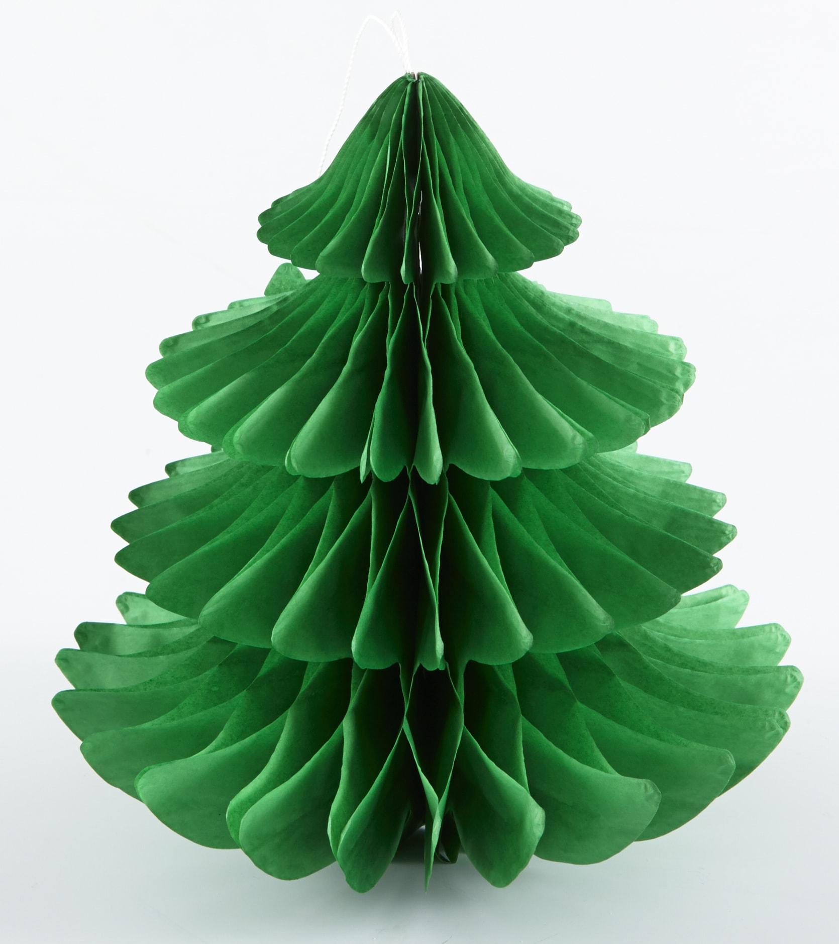 Sapin en papier vert