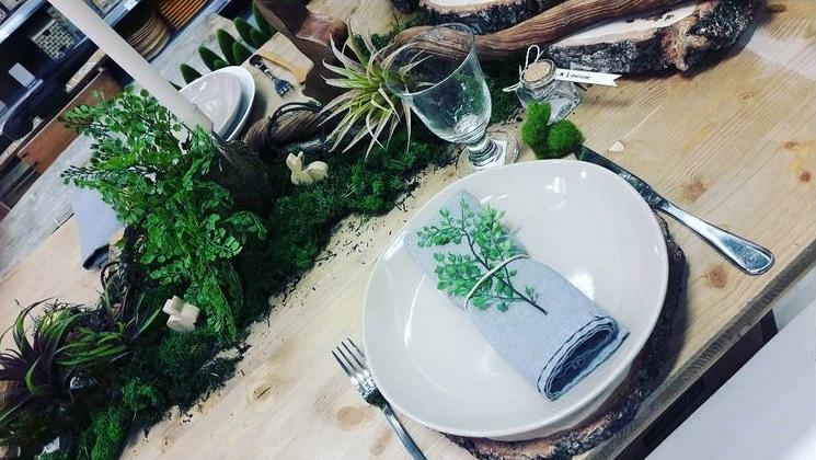 centre de table naturel et végétal pour Pâques