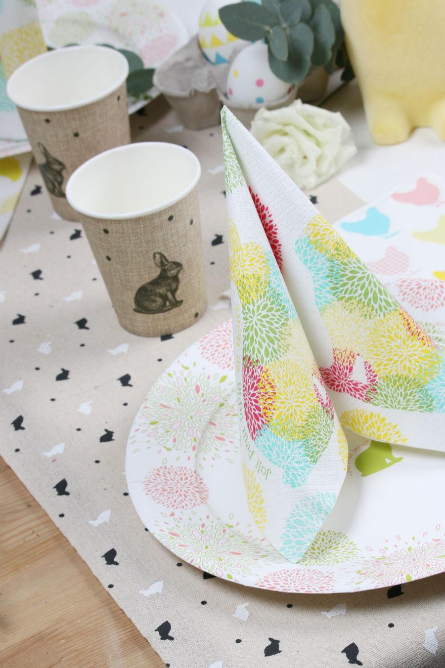 vaisselle imitation lin