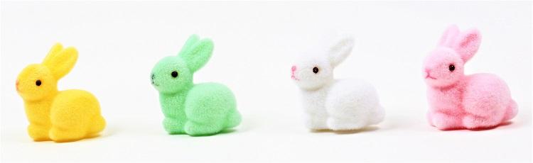 Petits lapins en velours en vente dans les magasins Auchan
