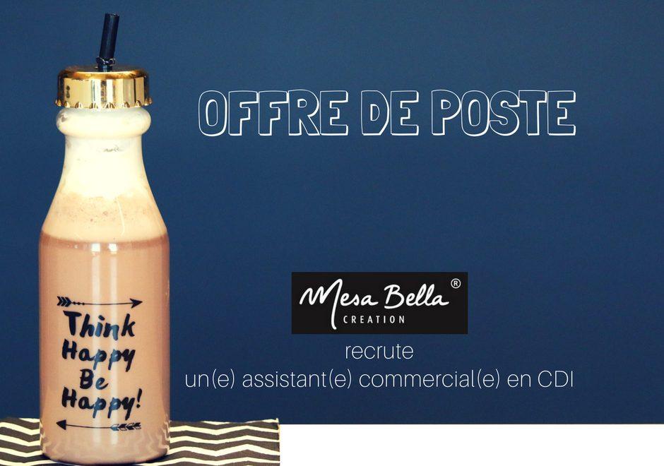 OFFRE DE POSTE assistant commercial