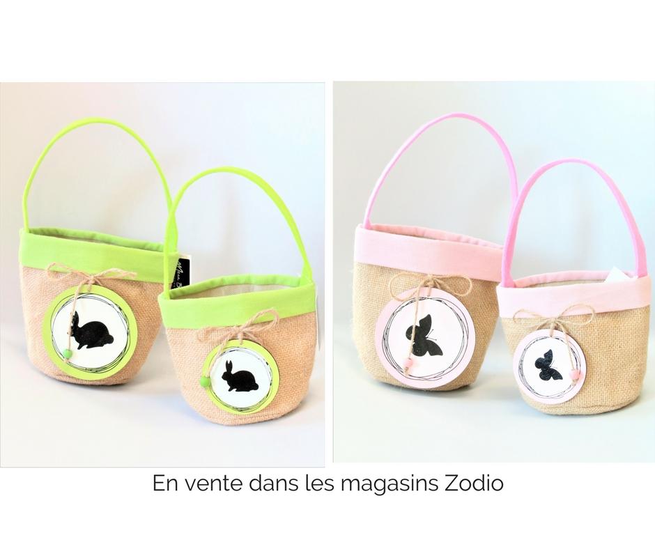 Paniers en jute pour Pâques en vente dans les magasins zodio