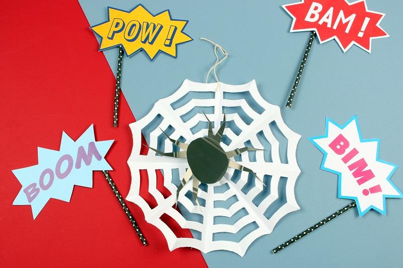 Toile spiderman diy