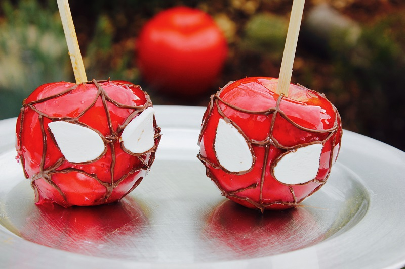 pommes d'amour spiderman