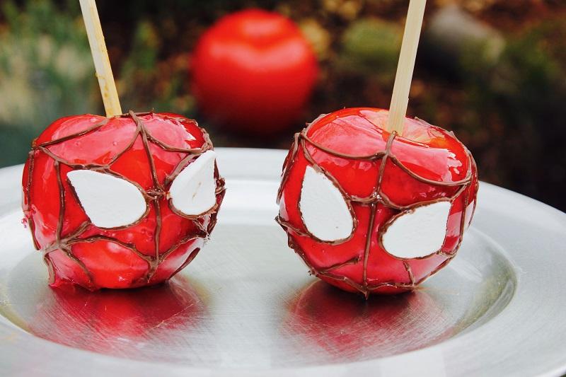 pommes d'amour spiderman
