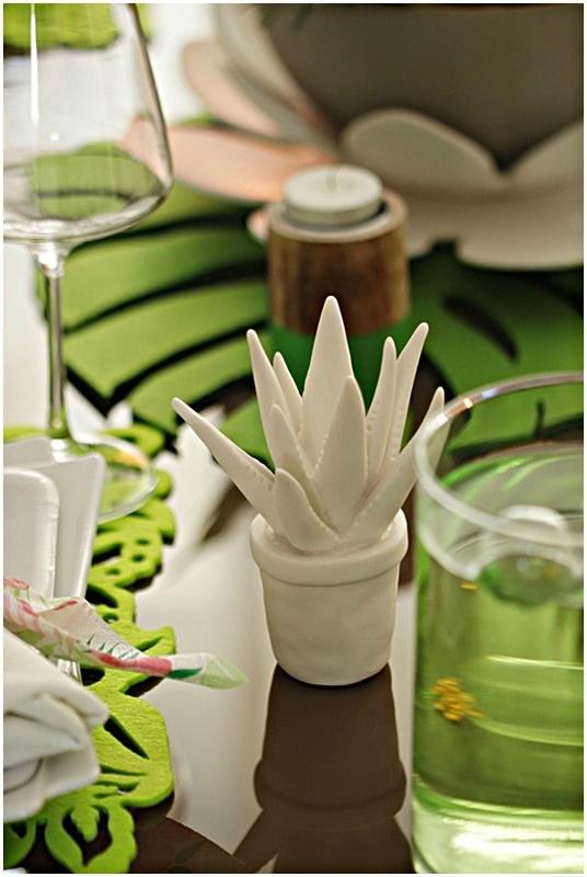 sujet décoratif cactus céramique