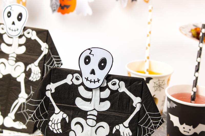 pour halloween tête de squelette à imprimer et découper