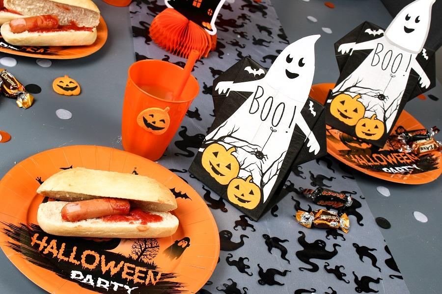 table d'halloween fantôme