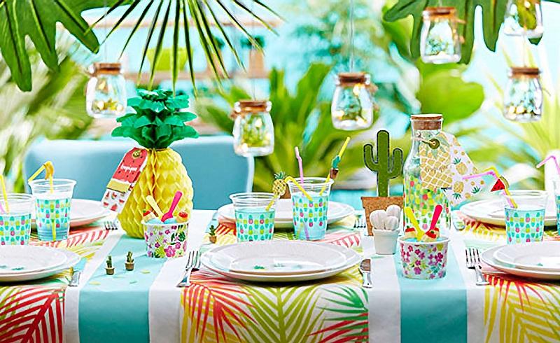 table estivale et tropicale