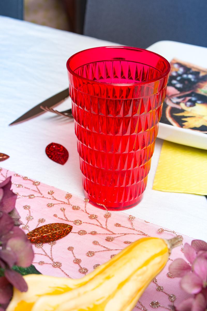 verre gobelet plastique à facette
