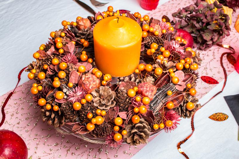 Couronne de fruits d'automne