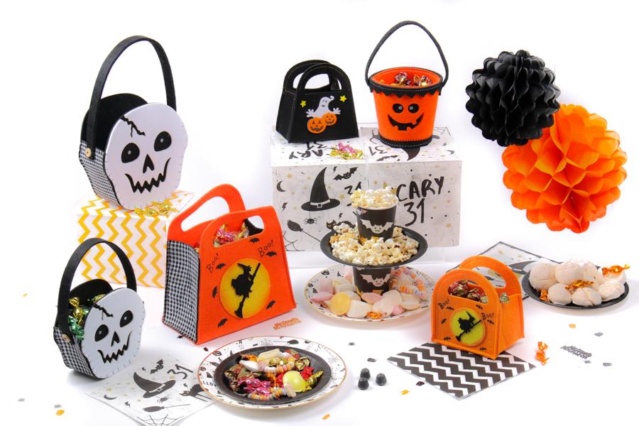 paniers en feutrine Halloween