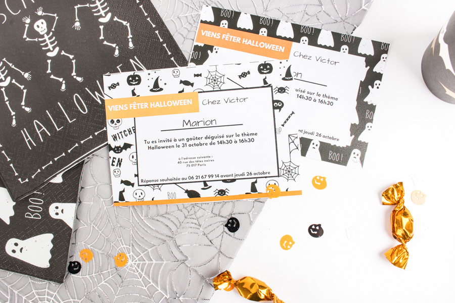 invitations Mesa Bella pour une Halloween party
