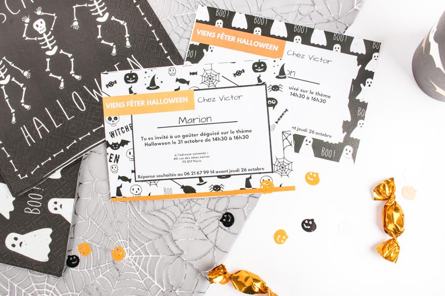 invitations Mesa Bella pour une Halloween party