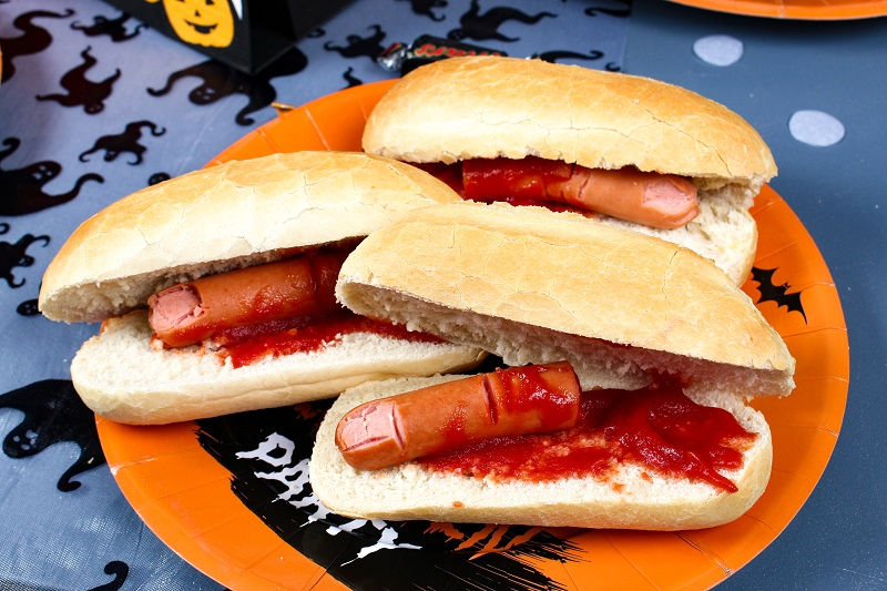 hotdog sanguinolent halloween