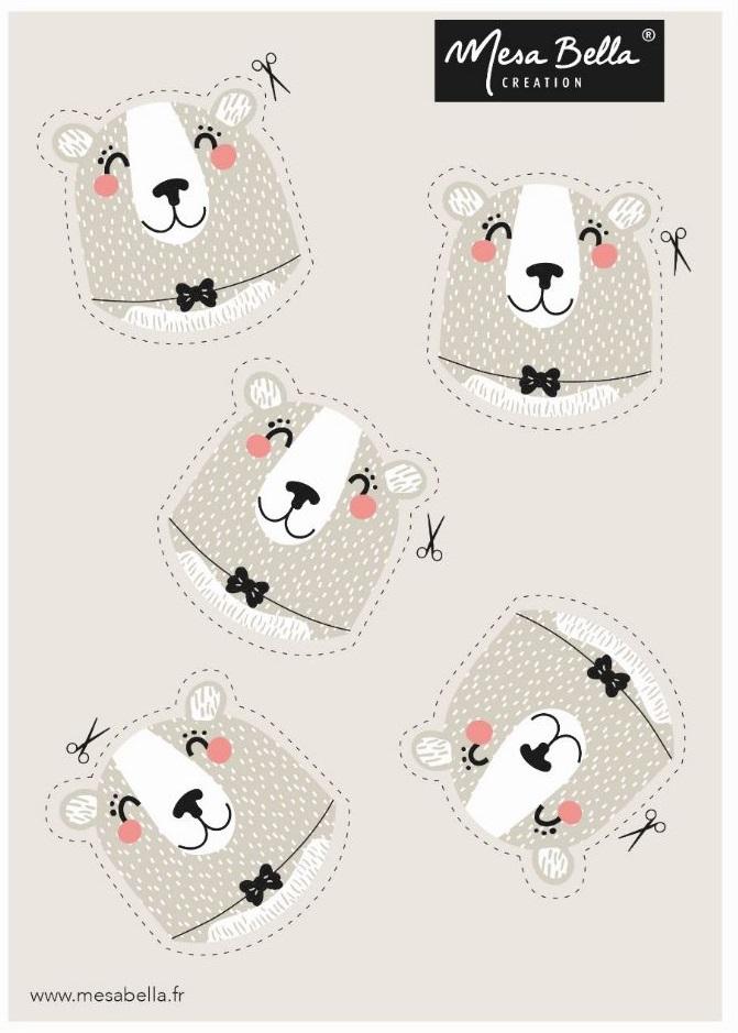 planche tête à imprimer ours polaire