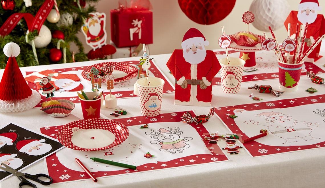 serviette Noel prépliée pour les kids