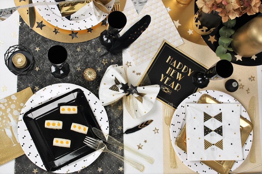 couleur noir et or pour soirée gatsby