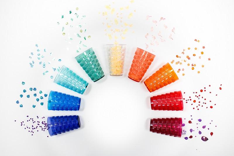 verres réutilisables couleurs