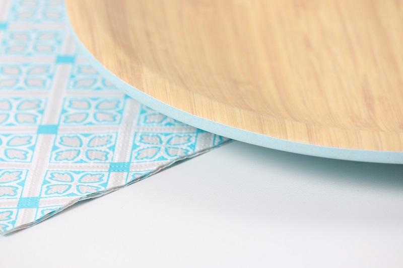 détail vaisselle bambou