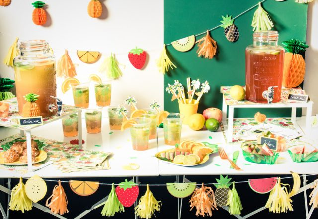 buffet de fruits Vaisselle jetable