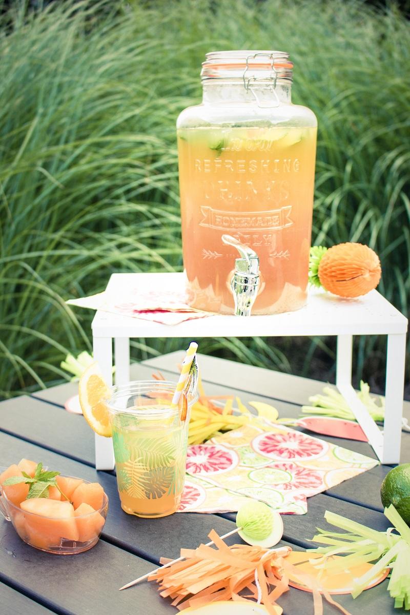 Cocktail ananas, orange, pamplemousse, grenadine