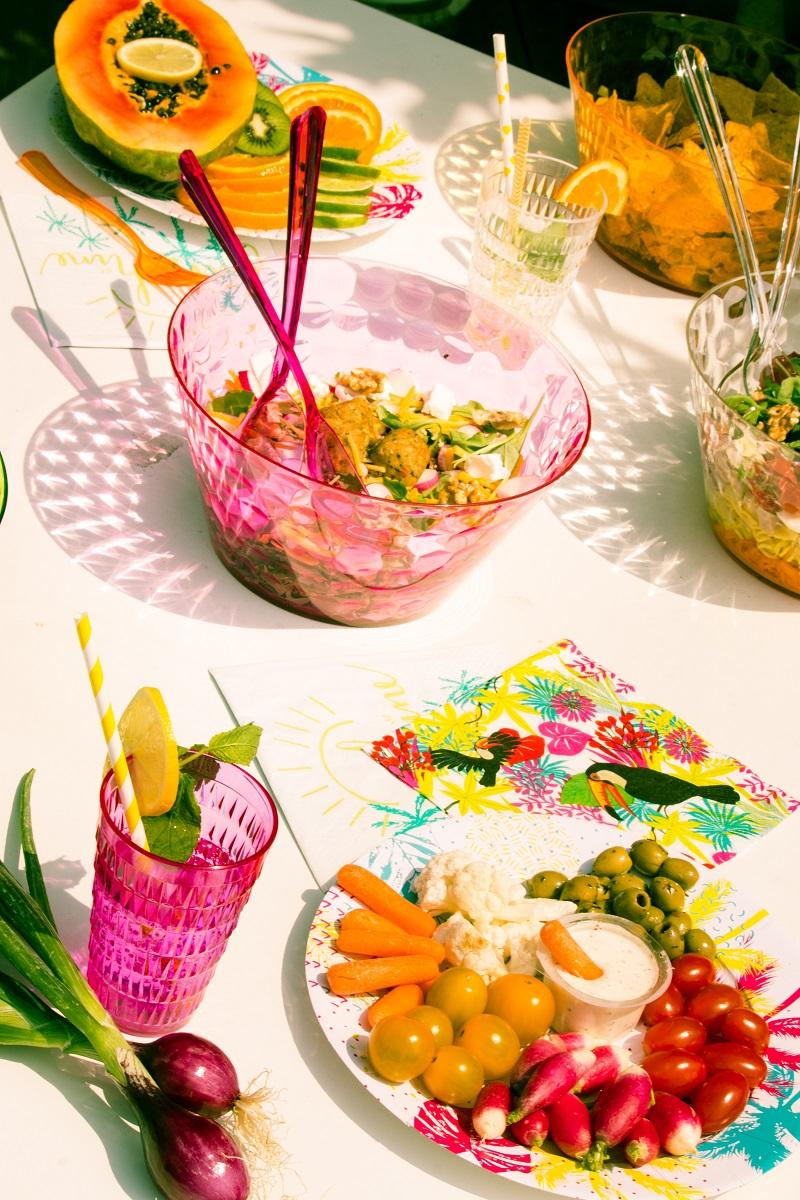 Saladiers colorés en plastique Mesa Bella