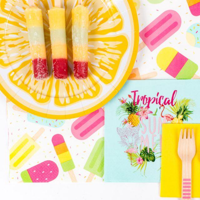Vaisselle citron - assiette en carton motif fruit