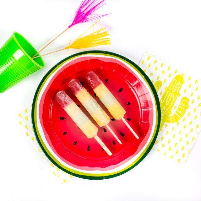 Assiette en carton fruit motif pastèque