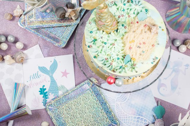 gâteau d'anniversaire sirene