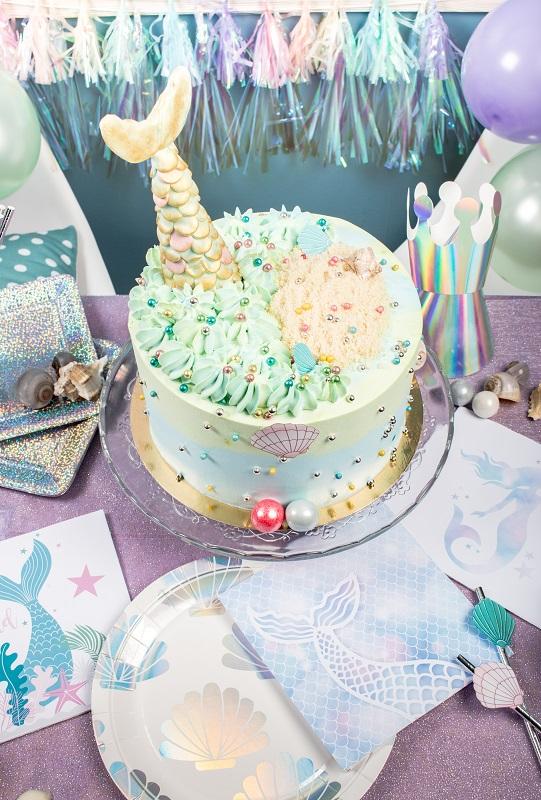 design cake sirene anniversaire ocean