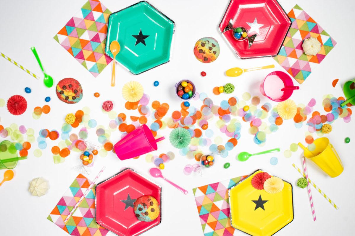 assiette hexagonale pois3-3