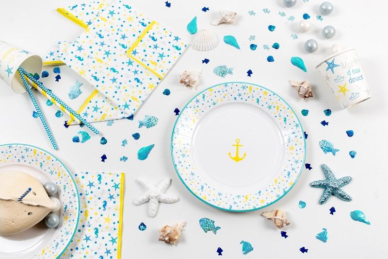 confettis océans coquillage