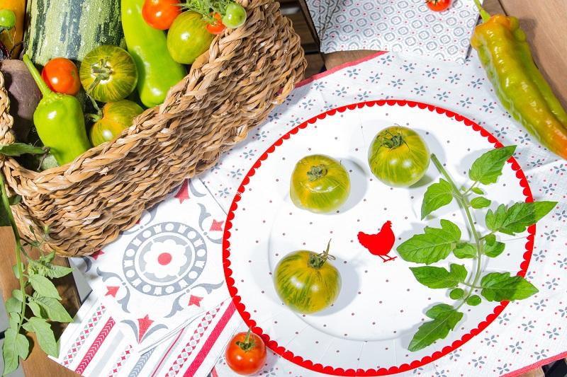 Ambiance bistrot, vaisselle Mesa Bella et légumes du jardin