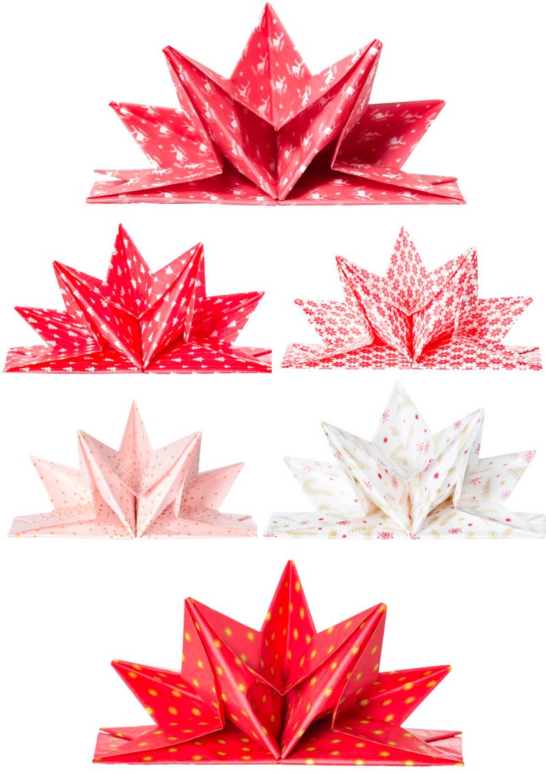 Noel rouge tradition serviette prepliee medsa bella