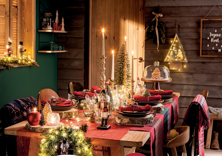 Décoration de table de Noël Scottish ! Catalogue Zôdio Noël 2018