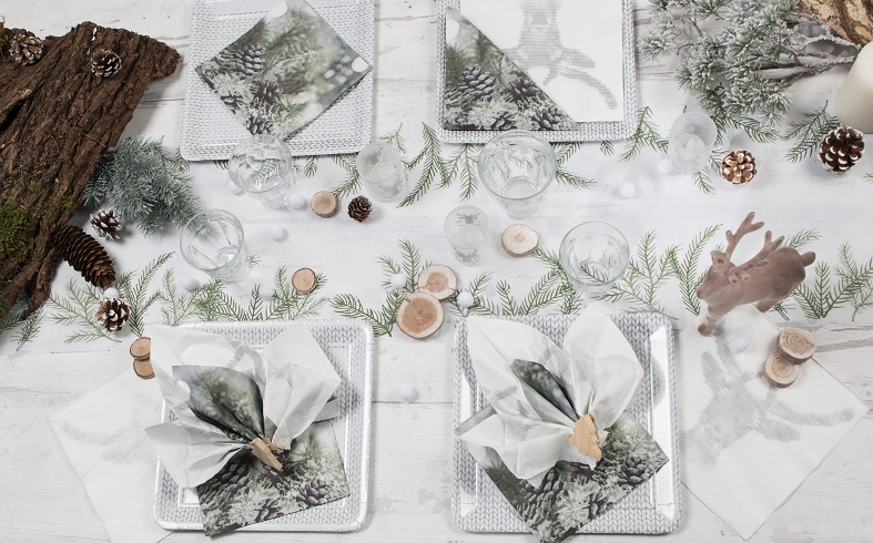 table noel blanc et naturel