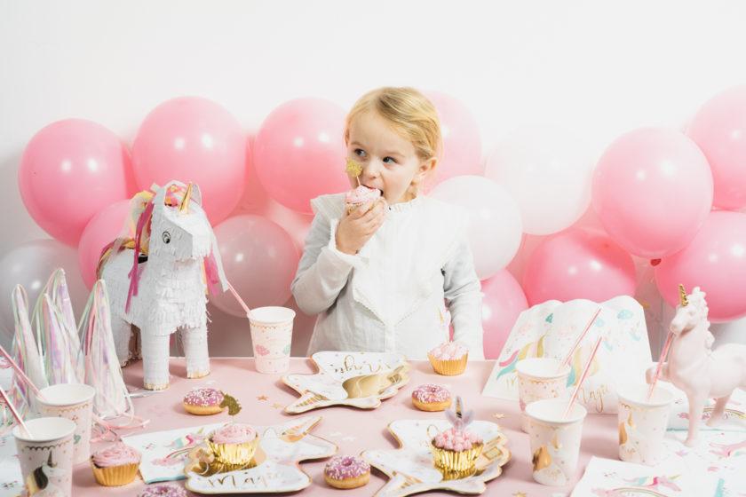 cupcake rose pour anniversaire fille