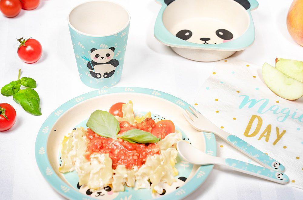 assiette bambou panda