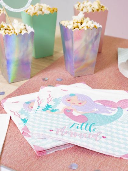 serviette de table en papier thème sirene