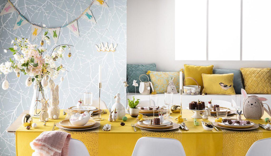 table de paques deco chez zodio avec mesa bella