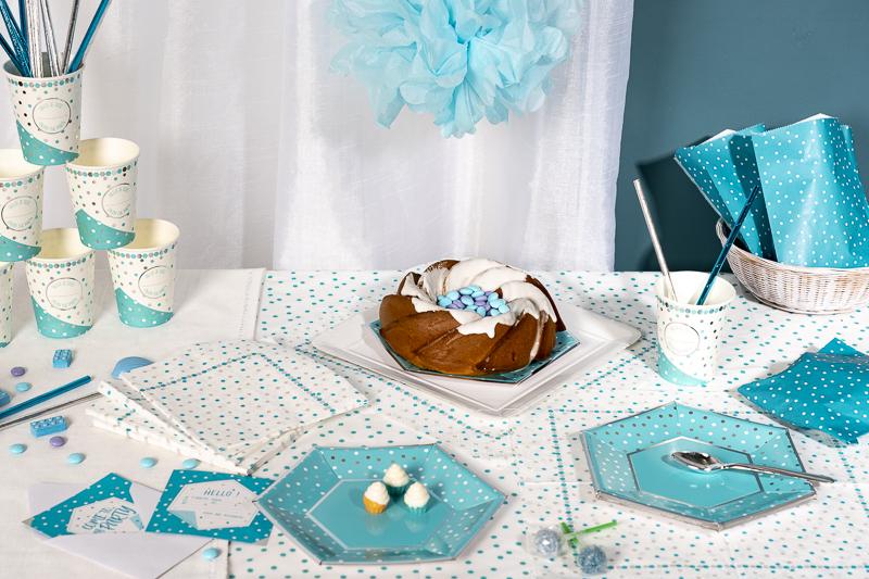 Sweet table anniversaire bleu garçon