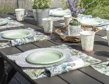 vaisselle theme nature green vert