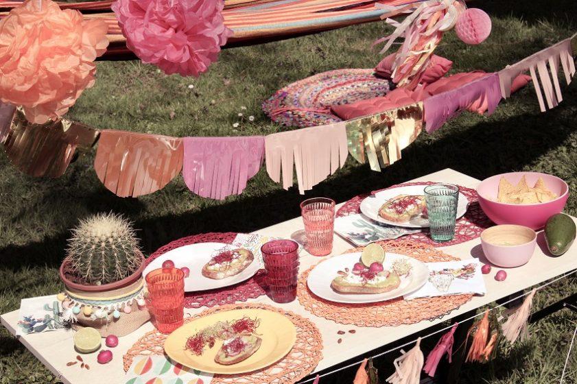 idée de présentation de table sur le thème mexicain