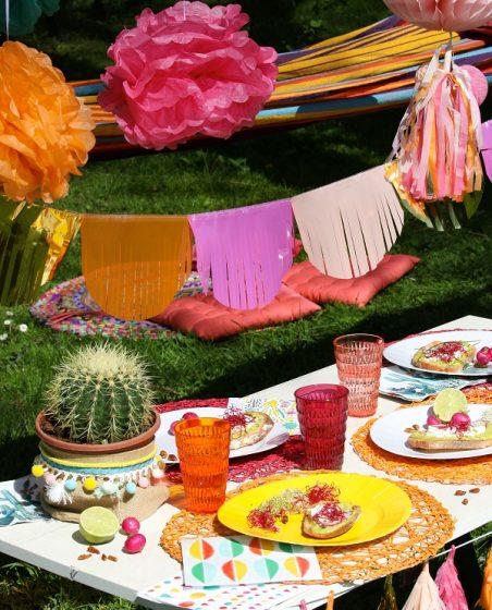 vaisselle jetable pour une fête mexicaine