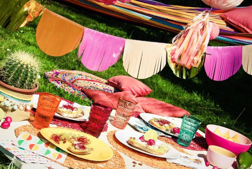 table de fete theme Mexique