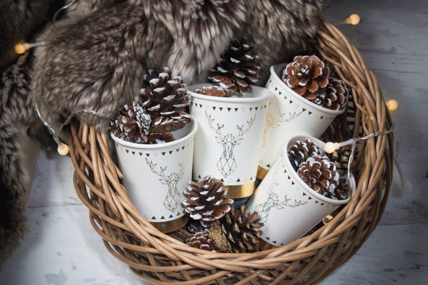 Gobelets de noël en Laponie