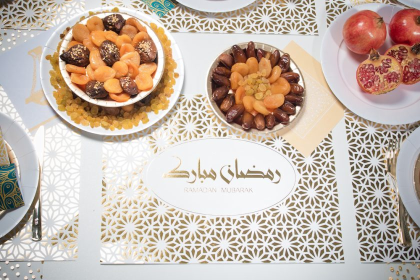 set de table hot stamping or ramadan